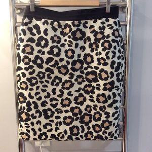 Leopard Ann Taylor Pencil Skirt